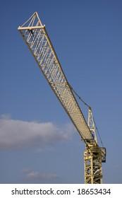 Huge construction crane at work