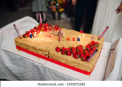 Cool Huge Birthday Cake Stock Photos Images Photography Shutterstock Funny Birthday Cards Online Alyptdamsfinfo