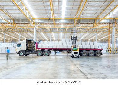 Huge distribution shipping warehouse for Global business shipping,Logistic,Import and Export business concept