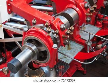 Huge engine of the old ship