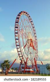 Huge ferris wheel in Batumi, Georgia
