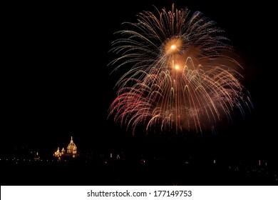 huge fireworks in Malta