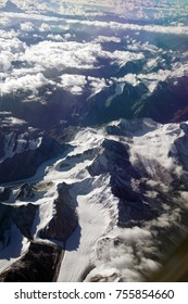 Huge glaciers in the Himalayan foothills, India