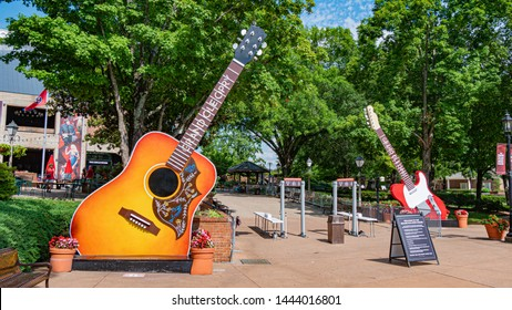 Huge guitars at Grand Ole Opry - NASHVILLE, TENNESSEE - JUNE 15, 2019
