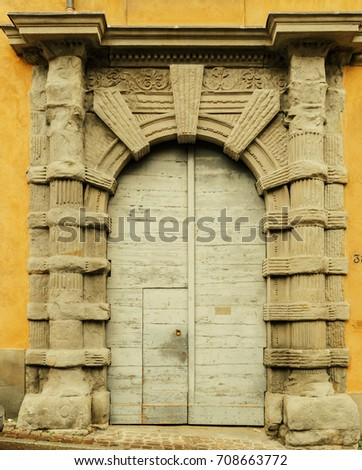 Huge Heavy Castle Arch Rounded Gate Stock Photo (Edit Now) 708663772 ...