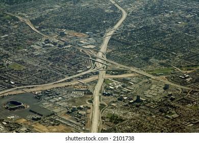 huge Highway interchange in Los Angeles Area, California