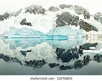 Huge iceberg in the De Gerlache Strait, west coast of antarctic peninsula, Antarctica