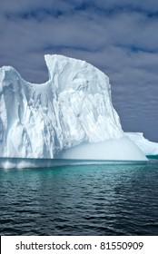 Huge iceberg in sea nearby Antarctica