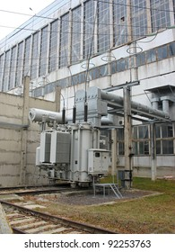 Huge industrial high voltage converter at a power plant