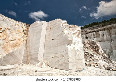 The huge marble walls of a marble quarry in Macedonia