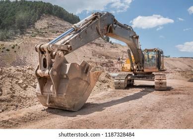 Huge mine excavator