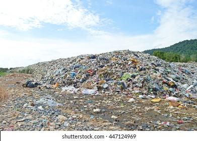 huge mountain of trash