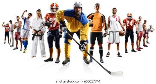 Color Sport Background Football Basketball Hockey Stock