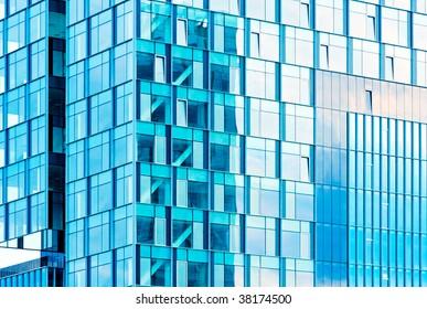 huge office building windows