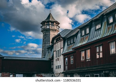 Huge old abandoned castle - Shutterstock ID 1180536331