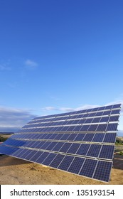 huge photovoltaic panel for renewable electric energy production