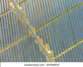 Huge Renewable Green Energy Solar Farm with many Photovoltaic Panels across Acres of land in the Caribbean  - 8 October 2016
