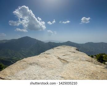 Huge rocks on a mountain