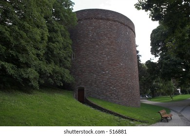 A huge round tower in Nijmegen, The Netherlands