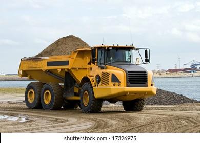 Huge Sand Dump Truck