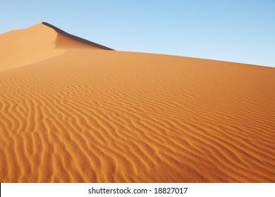 Huge sand dune in Namib desert