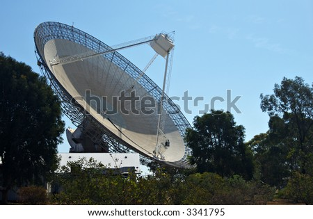 huge satellite dish that receiver parkes stock photo edit now