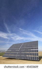 huge solar panel and blue sky