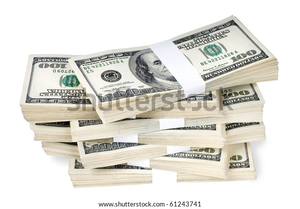 Huge Stack Prop Money Bundled 10000 Stock Photo (Edit Now) 61243741