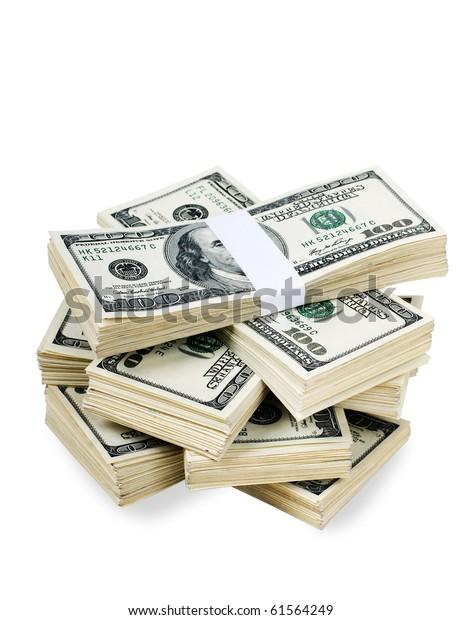 Huge Stack Prop Money Bundled 10000 Stock Photo (Edit Now) 61564249