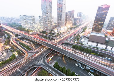 A huge traffic system in Beijing, China