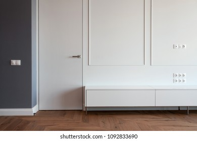 Huge wardrobe in elegant and comfortable home interior
