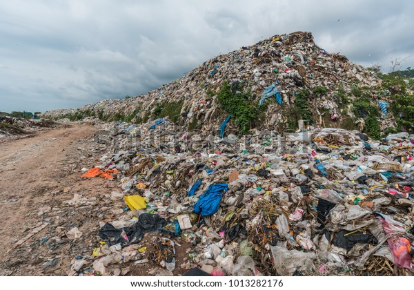Huge Waste Pile Extends Into Garbage Stock Photo (Edit Now