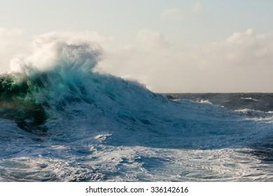 Huge Wave Crashing Down