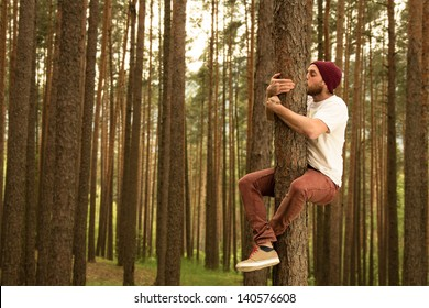 Hugging trees to support nature