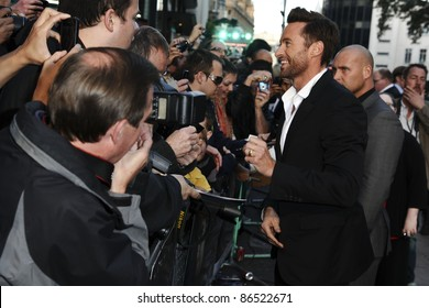 "Hugh Jackman arrives for the ""Real Steel"" premiere at the Empire Leicester Square, London. 14/09/2011  Picture by: Steve Vas / Featureflash"