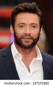 Hugh Jackman arriving for 'The Wolverine' premiere, Empire Leicester Square, London. 16/07/2013