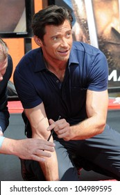 Hugh Jackman at the ceremony honoring Hugh Jackman with Hand and Footprints in the courtyard of the Grauman's Chinese Theatre. Grauman's Chinese Theatre, Hollywood, CA. 04-21-09