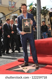 Hugh Jackman is honored with the 2,487th star on the Hollywood Walk of Fame. December 13, 2012  Los Angeles, CA Picture: Paul Smith
