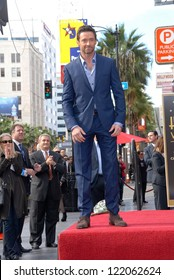 Hugh Jackman at the Hugh Jackman Star on the Hollywood Walk of Fame Ceremony, Hollywood, CA 12-13-12