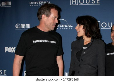 "Hugh Laurie & Lisa Edelstein  arriving at the 100th Episode Party for ""House"" at STK Resturant in Los Angeles, CA on  January 21, 2009"