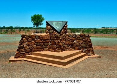 HUGH RIVER,  NT, AUSTRALIA - NOVEMBER 15: Memorial for Cannonball race 1994 where four people died by car accident on Stuart Highway near Alice Springs, on November 15, 2017 in Hugh River, Australia
