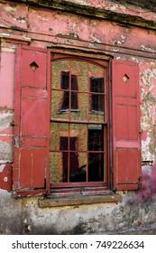 Huguenot House window in Spitalfields