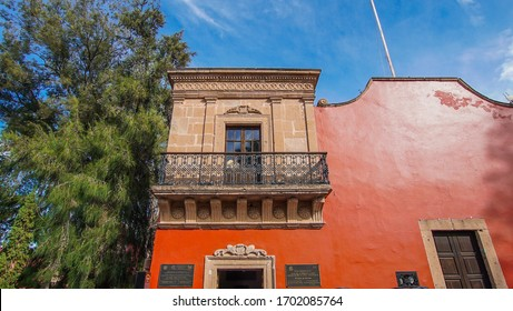 Huichapan-Hidalgo, Mexico, december 22-2019. Facade of the spire (El Chapitel), where the celebration of the first  independence day from Mexico was commemorated in the magical town of Huichapan.