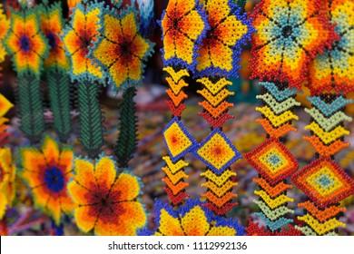 Huichol art jewelry, Mexican Handicraft