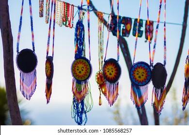 Huichol offerings in Wirikuta, Real de Catorce, San Luis Potosi, Mexico