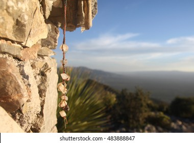 Huichol religious oblation in Real de Catorce - Mexico