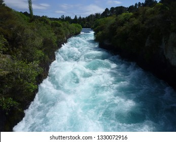 Huka Falls Waikato River Taupo District Waikato North Island New Zealand