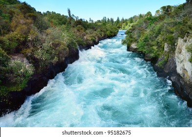 Huka Falls - Waterfall near Taupo, New Zealand.