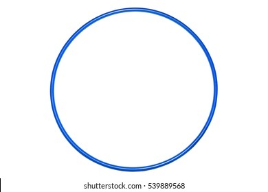 The hula Hoop blue isolated on white background. Gymnastics, fitness,diet.