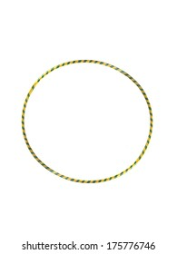 A hula hoop isolated against a white background